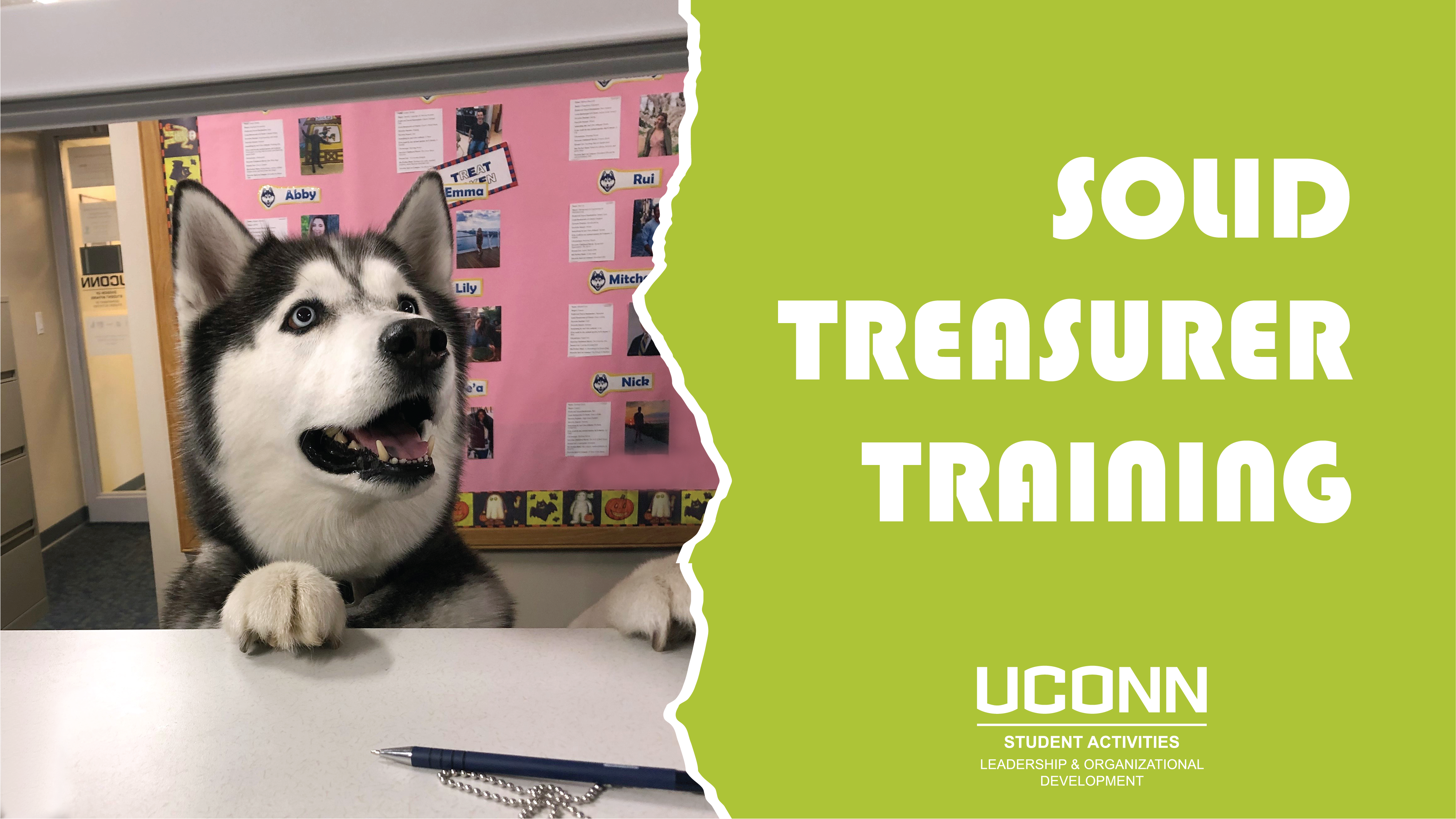 SOLID Treasurer Training